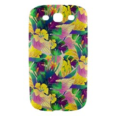 Tropical Flowers And Leaves Background Samsung Galaxy S III Hardshell Case