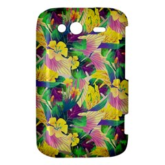Tropical Flowers And Leaves Background HTC Wildfire S A510e Hardshell Case