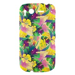 Tropical Flowers And Leaves Background HTC Desire S Hardshell Case