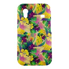Tropical Flowers And Leaves Background Samsung Galaxy Ace S5830 Hardshell Case