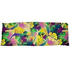 Tropical Flowers And Leaves Background Body Pillow Case Dakimakura (Two Sides)