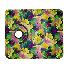 Tropical Flowers And Leaves Background Samsung Galaxy S  III Flip 360 Case