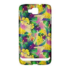 Tropical Flowers And Leaves Background Samsung Ativ S i8750 Hardshell Case