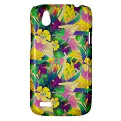 Tropical Flowers And Leaves Background HTC Desire V (T328W) Hardshell Case