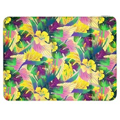 Tropical Flowers And Leaves Background Samsung Galaxy Tab 7  P1000 Flip Case