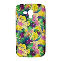 Tropical Flowers And Leaves Background Samsung Galaxy Duos I8262 Hardshell Case