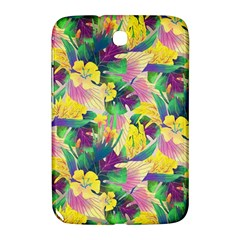 Tropical Flowers And Leaves Background Samsung Galaxy Note 8.0 N5100 Hardshell Case