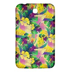 Tropical Flowers And Leaves Background Samsung Galaxy Tab 3 (7 ) P3200 Hardshell Case