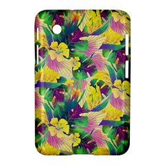 Tropical Flowers And Leaves Background Samsung Galaxy Tab 2 (7 ) P3100 Hardshell Case