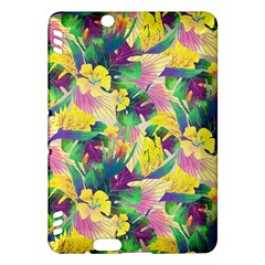 Tropical Flowers And Leaves Background Kindle Fire HDX Hardshell Case