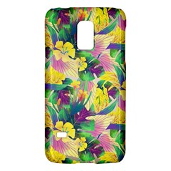 Tropical Flowers And Leaves Background Galaxy S5 Mini