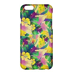 Tropical Flowers And Leaves Background Apple iPhone 6 Plus/6S Plus Hardshell Case