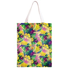 Tropical Flowers And Leaves Background Classic Light Tote Bag