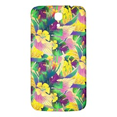 Tropical Flowers And Leaves Background Samsung Galaxy Mega I9200 Hardshell Back Case