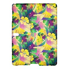 Tropical Flowers And Leaves Background Samsung Galaxy Tab S (10.5 ) Hardshell Case