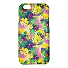 Tropical Flowers And Leaves Background iPhone 6/6S TPU Case