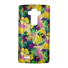 Tropical Flowers And Leaves Background LG G4 Hardshell Case