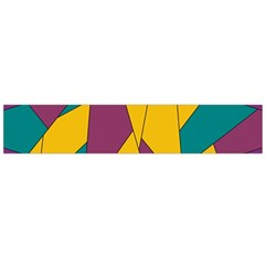 Bursting Star Poppy Yellow Violet Teal Purple Flano Scarf (Large)