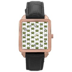 Funny Robot Cartoon Rose Gold Leather Watch