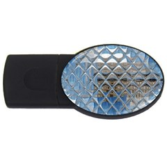Mirrored Glass Tile Urban Industrial USB Flash Drive Oval (1 GB)