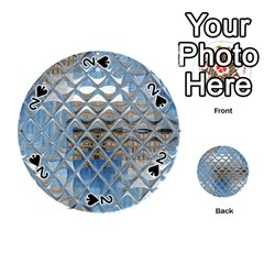 Mirrored Glass Tile Urban Industrial Playing Cards 54 (Round)