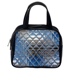 Mirrored Glass Tile Urban Industrial Classic Handbags (One Side)