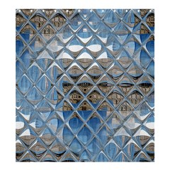 Mirrored Glass Tile Urban Industrial Shower Curtain 66  x 72  (Large)