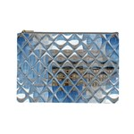 Mirrored Glass Tile Urban Industrial Cosmetic Bag (Large)  Front