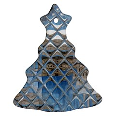 Mirrored Glass Tile Urban Industrial Ornament (Christmas Tree)