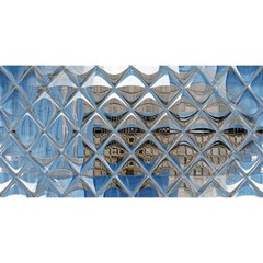 Mirrored Glass Tile Urban Industrial YOU ARE INVITED 3D Greeting Card (8x4)