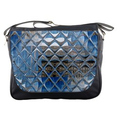 Mirrored Glass Tile Urban Industrial Messenger Bags