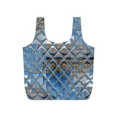 Mirrored Glass Tile Urban Industrial Full Print Recycle Bags (S)