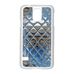 Mirrored Glass Tile Urban Industrial Samsung Galaxy S5 Case (White)