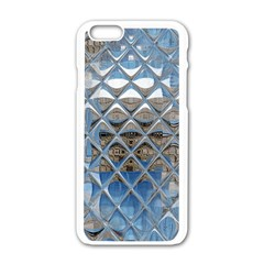 Mirrored Glass Tile Urban Industrial Apple iPhone 6/6S White Enamel Case
