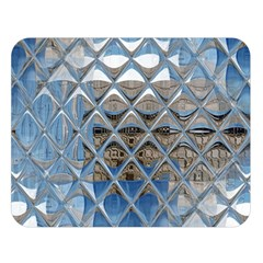 Mirrored Glass Tile Urban Industrial Double Sided Flano Blanket (Large)