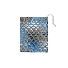 Mirrored Glass Tile Urban Industrial Drawstring Pouches (XS)