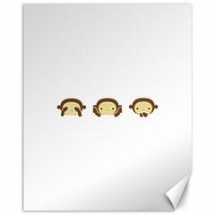 Three Wise Monkeys Canvas 11  x 14