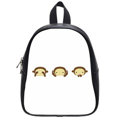 Three Wise Monkeys School Bags (Small)