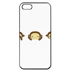 Three Wise Monkeys Apple iPhone 5 Seamless Case (Black)