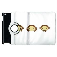 Three Wise Monkeys Apple iPad 2 Flip 360 Case