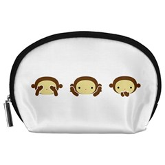 Three Wise Monkeys Accessory Pouches (Large)