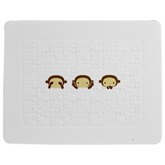 Three Wise Monkeys Jigsaw Puzzle Photo Stand (Rectangular)