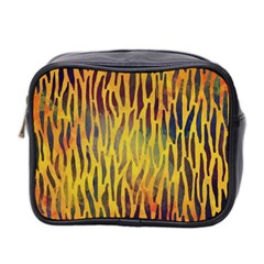 Colored Tiger Texture Background Mini Toiletries Bag 2-Side