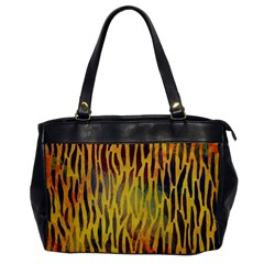 Colored Tiger Texture Background Office Handbags