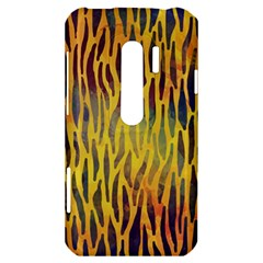 Colored Tiger Texture Background HTC Evo 3D Hardshell Case