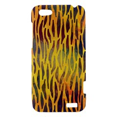 Colored Tiger Texture Background HTC One V Hardshell Case