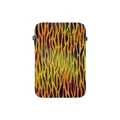 Colored Tiger Texture Background Apple iPad Mini Protective Soft Cases