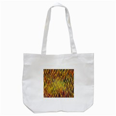 Colored Tiger Texture Background Tote Bag (White)