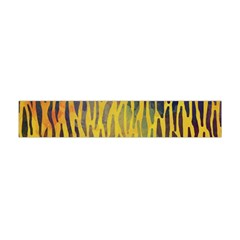 Colored Tiger Texture Background Flano Scarf (Mini)