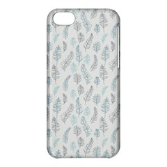 Whimsical Feather Pattern Dusk Blue Apple iPhone 5C Hardshell Case